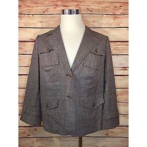 Lane Bryant Linen Jacket Blazer